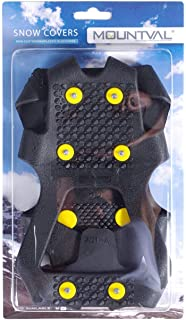 Mountval Ice and Snow Grips, Slip On Stretch Durable Cleats Crampons, Snow Covers, Various Sizes