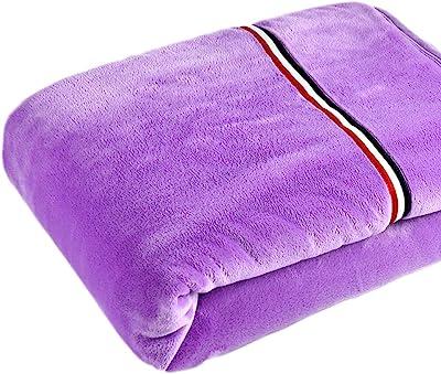 FJH 冬の毛布ダブル厚いベッドルームベッド毛布リビングルームレジャーブランケット四季をご利用いただけます180 * 200cm 毛布 (Color : Purple)