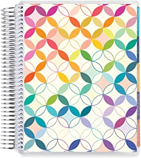 """$33 » 8.5"""" x 11"""" Coiled Monthly Planner (August 2021 - July 2022) - Mid Century Circles Colorful. Dated Calendar w/Lined Pages &..."""
