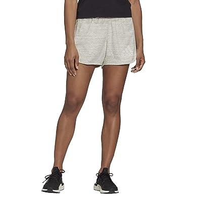 adidas Melange Shorts (Medium Grey Melange/Core White) Women