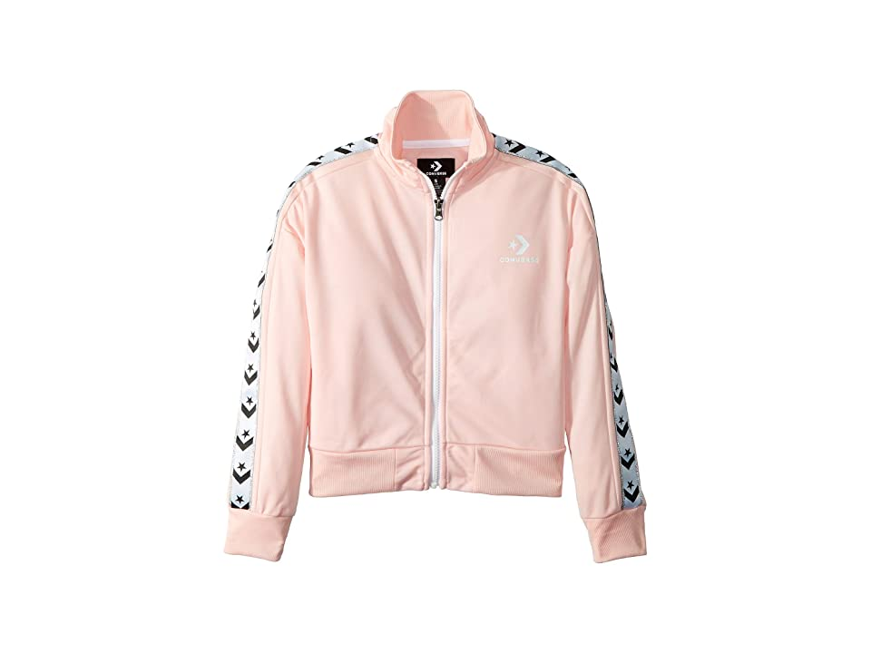 Converse Kids Star Chevron Track Jacket (Big Kids) (Storm Pink) Girl