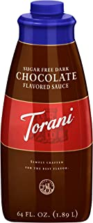 Torani Sugar Free Dark Chocolate Puremade Sauce, 64 Ounce
