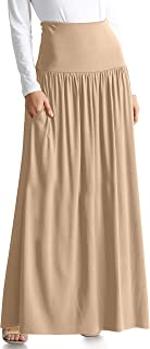 Womens Long Maxi Skirt with Pockets Reg and Plus Size - Made in The USA