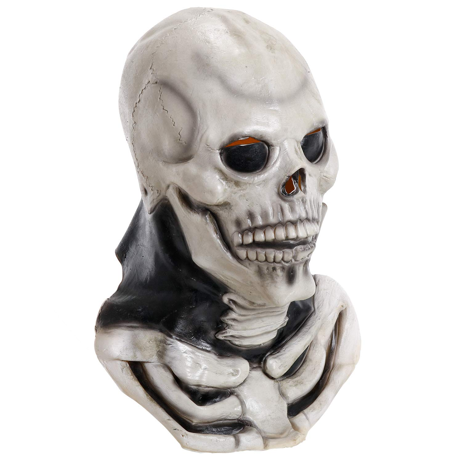 Adult Halloween Full Over Head Mask rubber latex horror scary ghost face hooded