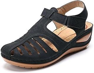 N\A Vintage sandalen met dikke gesp, comfortabele damessandalen 38, zwart