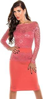 Fashion Abendkleid mit Spitze Cocktailkleid Etuikleid Kleid aus Spitze Deluxe Look
