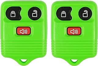 2 Green- QualityKeylessPlus Remote Replacement 3 Button Keyless Entry FCC ID: CWTWB1U331 FREE KEYTAG