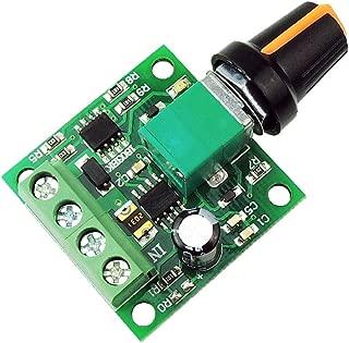 uniquegoods 1.8v 3v 5v 6v 7.2v 12v 2A 30W DC Motor Speed Controller (PWM) 1803BK Adjustable Driver Switch
