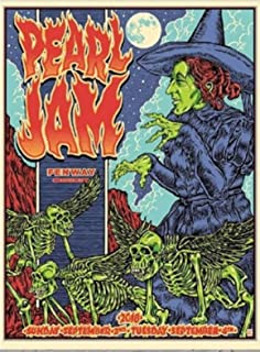 Pearl Jam boston poster wizard of oz witch ben brown fenway park 2018 pj tour new