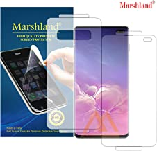 MARSHLAND 3D Screen Protector Bubble Free Anti Scratch Front & Back Screen Guard Compatible for Samsung Galaxy S10 Plus (Transparent)