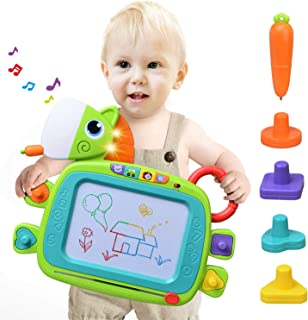 LUKAT Magnetic Drawing Board for Toddlers 4-Colors Doodle Board Travel Size