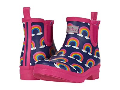 Hatley Kids Rainbow Arches Ankle Rain Booties (Toddler/Little Kid) (Blue) Girls Shoes