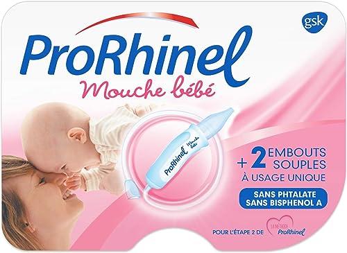 Prorhinel mouche bébé manuel ergonomique, réduit le risque de sinusites et otites