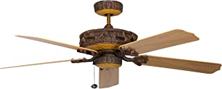 Concord Fans 52PD5OWL Downrod Mount, 5 Knotty Pine Blades Ceiling fan, Brown Ceiling Fans