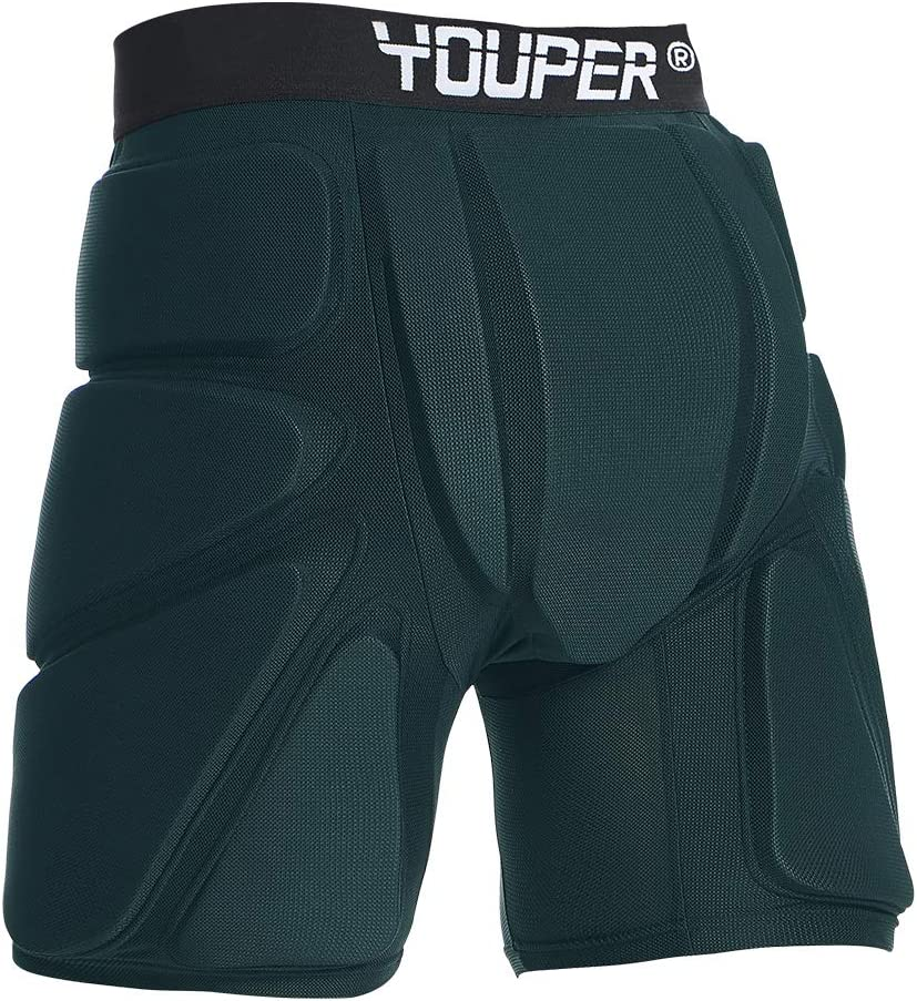 Skate /& Roller Sports Snowboard 3D Protection for Butt Youper Protective Padded Shorts for Ski Hip /& Tailbone