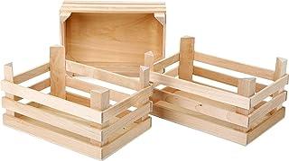 small foot company Empresa pequeña del pie Big Box 1807 Natural, Juego de 3 [Importado de Alemania]