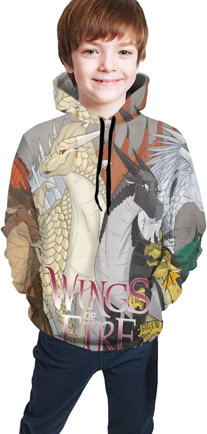 Wings of fire dragons Funny print Teen Hooded Sweate Jacket Black Comfortable Classic Boy and Girl Unisex