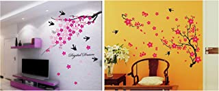 Decals Design 'Flower Branch with Birds' Wall Sticker (PVC Vinyl, 50 cm x 70 cm),Multicolour & 'Branch with Flowers' Wall ...