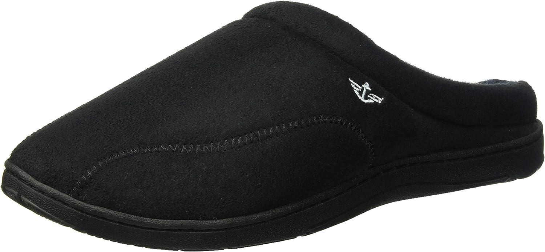 Dockers Men's Christopher Roll Collar Clog Slipper, Black, Large 9.5-10.5 M US
