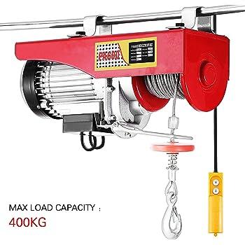 Palan électrique, 400KG, Palan électrique aérien, 230V, 12M, automatique pour l'installation d'équipement, éléments de levage, traction mécanique (400KG/850W)