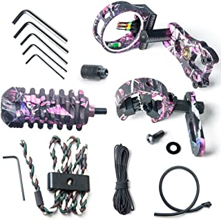 Fly Archery Essential Accessory Upgrade Camo 5-Pin Bow Sight, Arrow Rest, Stabilizer,Braided Bow Sling, Peed Sight Compound Bow Accessories