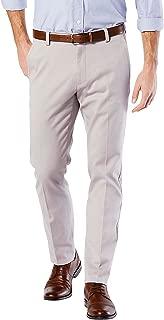 Men's Easy Khaki Slim Tapered Fit Pants Burma Grey Pants