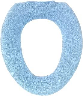 オカ 乾度良好 水玉 O型専用 便座カバー (ブルー)