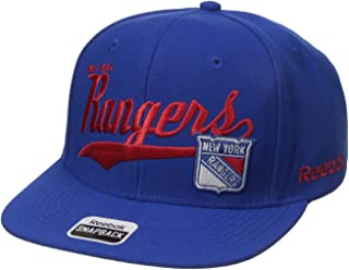 Reebok NHL Mens NHL SP17 Tail Sweep Flat Brim Snapback Hat