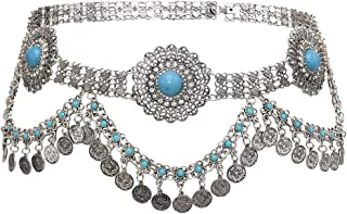 Idealway Women's Belly Waist Chain - Dancing Belt Beach Belts Bohemian Body Chain Coin Tassel Belt Belly Jewelry Women Accessories