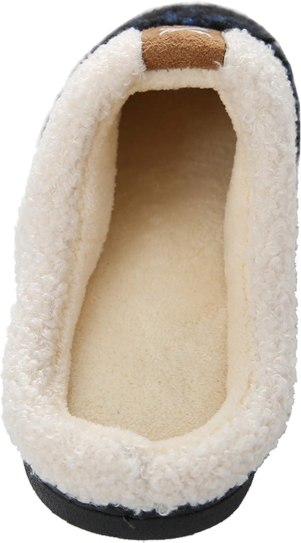 Acfoda Damen Herren Winter Warm Memory Foam Hausschuhe mit rutschfeste Gummisohle Gr.36-47