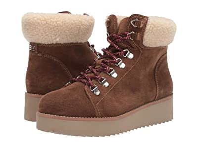 Sam Edelman Franc (Toffee Brown/Natural Wr Velutto Suede Leather/Vegan Fur) Women