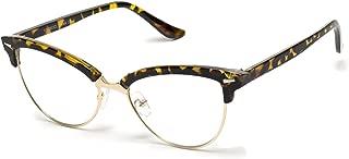 New Vintage Retro Semi-Rimless Cat Eye Glasses for Women