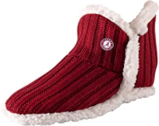TCK Brands University Bootie Slipper Sock with Sherpa Lining and Memory Foam Cushion