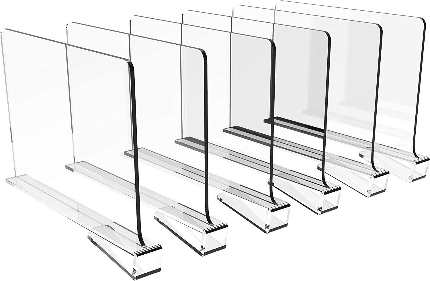 Cq acrylic 6PCS Shelf Dividers Closets Tampa Mall for Acrylic Quality inspection Clear D