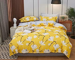 Kingsize bedsheet 6pcs one set two side reversible color high cotton bedding set duvet cover washable with fitted sheet