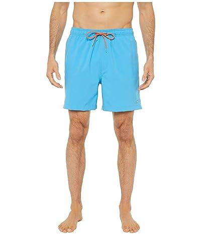 Southern Tide Solid Swim Trunks (Malibu Blue) Men