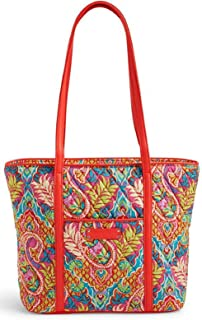 Womens Paisley In Paradise Quilted Tote Handbag Red Medium