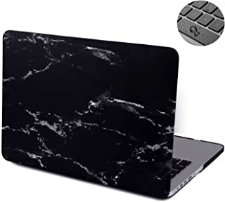 MacBook Pro 13 inch Case with Retina Display(Non CD ROM), Topinno Hard Case Print Frosted(Model:A1425/A1502) - Black/White Marble Pattern Rubber Coated Hard Shell Case Cover&Keyboard Cover Skin