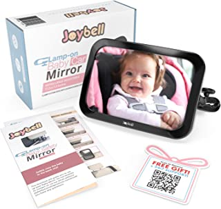 آینه ماشین جیب کودک Joybell برای آرماتورهای قابل تنظیم ، ضمیمهها به کوسن پست نرم و محکم | تست ایمنی تصادف | ضد آب | فوق العاده بزرگ | فقط برای پایه های قابل تنظیم