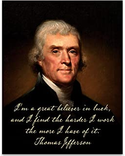 I'm a Great Believer in Luck - Thomas Jefferson - 11x14 Unframed Art Print - Great Home Decor Under $15