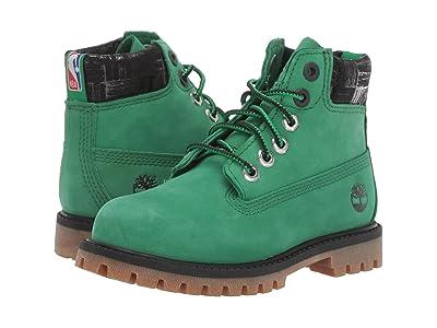 Timberland Kids 6 Premium Waterproof Boot Boston Celtics (Toddler/Little Kid) (Medium Green Nubuck) Kids Shoes