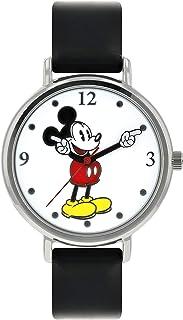 Disney Unisex-Adult Analogue Classic Quartz Watch with Leather Strap MK1315