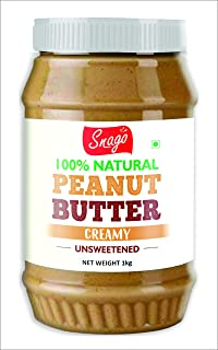 Snago 100% Natural Peanut Butter - Creamy - 1 kg