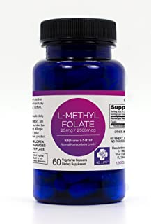 MD.LIFE 5-MTHF L-Methylfolate 2.5 MG 2500 mcg Professional Strength Active Folate 60 Capsules (60)