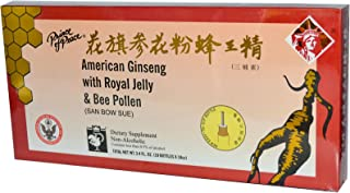 Prince of Peace American Ginseng With Royal Jelly and Bee Pollen 100cc Count (10x 10cc)