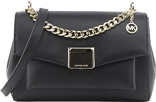 حقيبة ليتا متوسطة الحجم للنساء من مايكل كورس - اسود - حقائب طويلة تمر بالجسم