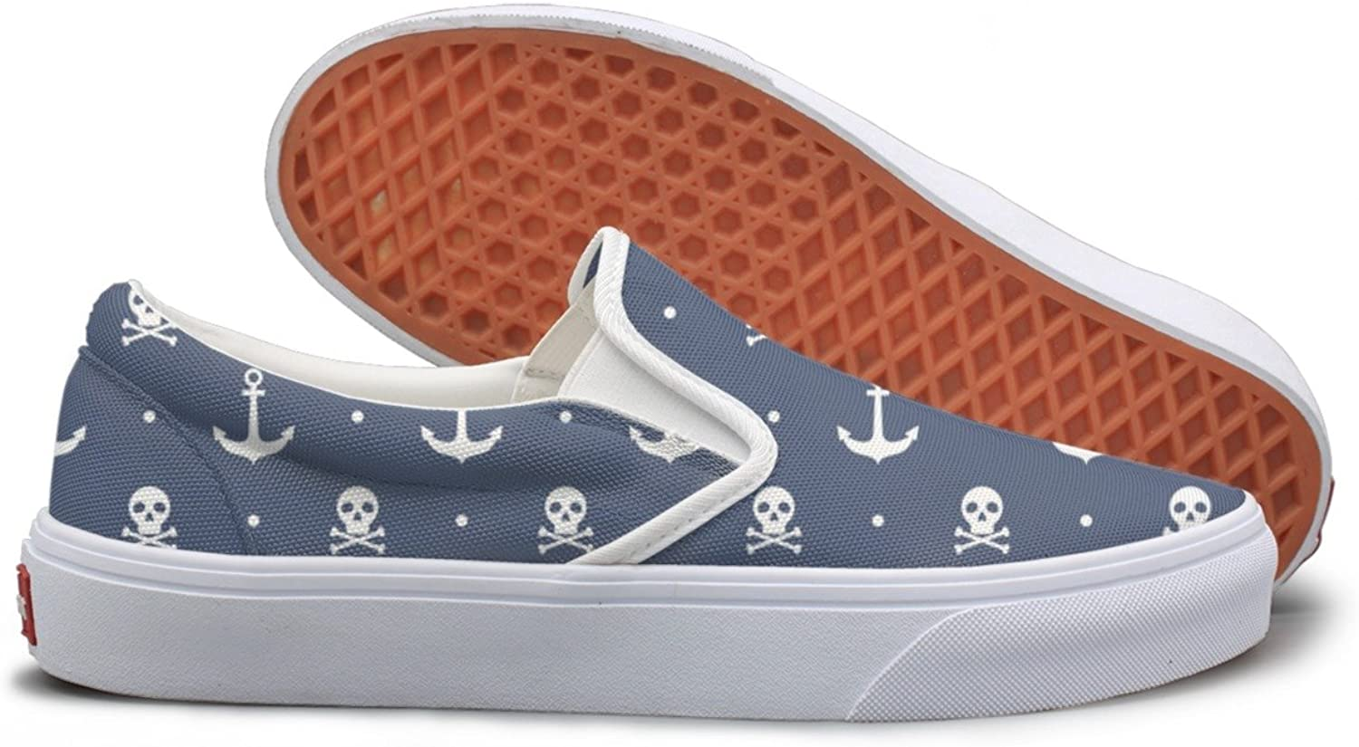 SEERTED Anchors and Skulls bluee Running Sneakers for Women
