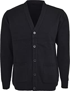 Men Knitted Cardigan Classic Button V Neck Knitted Cardigans Plus Size Cardigans with Pockets