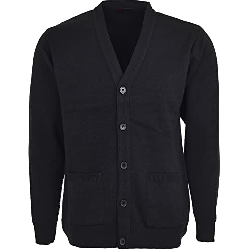 9d51df1925ff Mens Knitted Cardigan Classic Button V Neck Knitted Cardigans Plus Size  Cardigans with Pockets