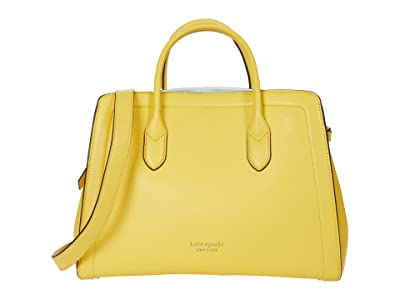 Kate Spade New York Knott Large Satchel (Yellow Sesame) Cross Body Handbags